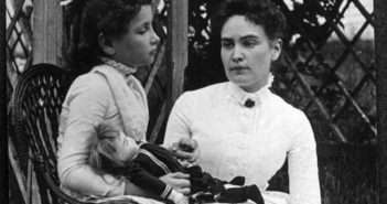 Helen Keller with Anne Sullivan, July 1888